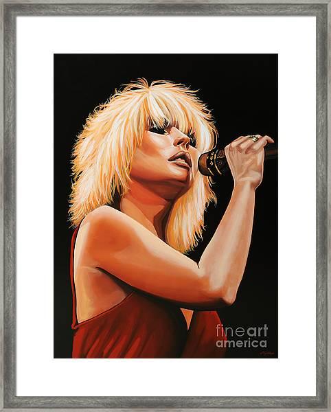 Deborah Harry Or Blondie 2 Framed Print