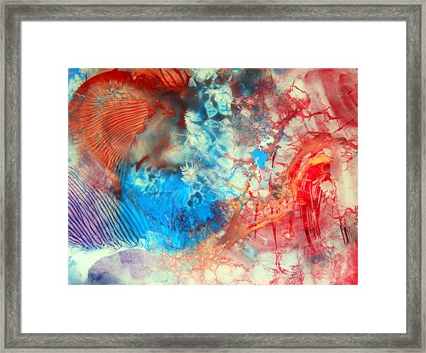 Decalcomaniac Colorfield Abstraction Without Number Framed Print