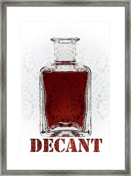 Decant Framed Print