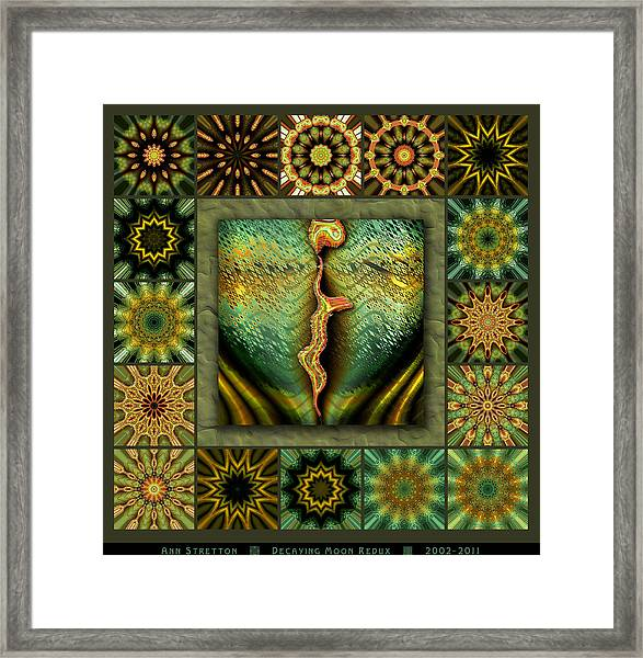 Decaying Moon Redux Framed Print