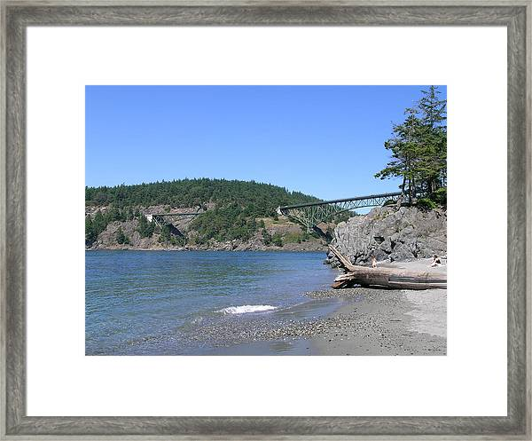Deception Pass Bridge II Framed Print by Mary Gaines