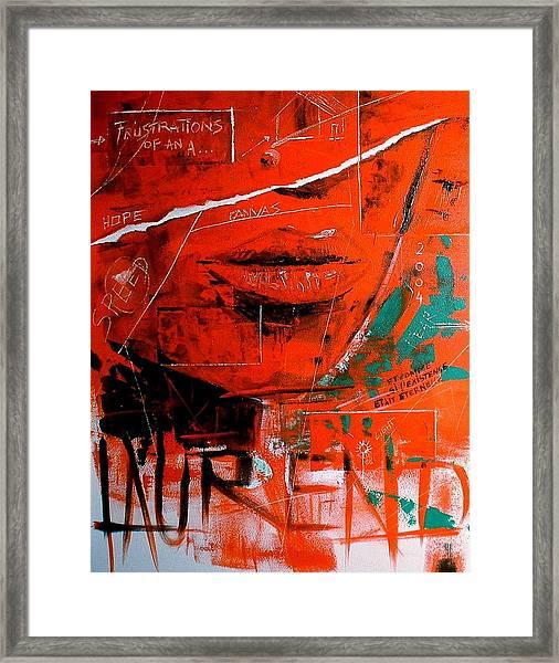 Dechirure Framed Print by Laurend Doumba