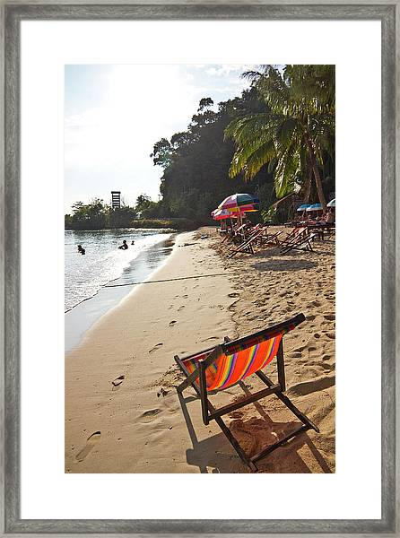 Deckchairs On Au Bang Bao Framed Print