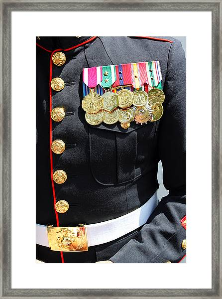 Decked Out In Courage Framed Print