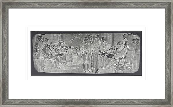 Declaration Of Independence In Negative Framed Print