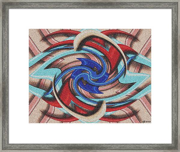 Deco 3d Tile 2 Framed Print