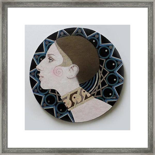 Deco Barbra Framed Print