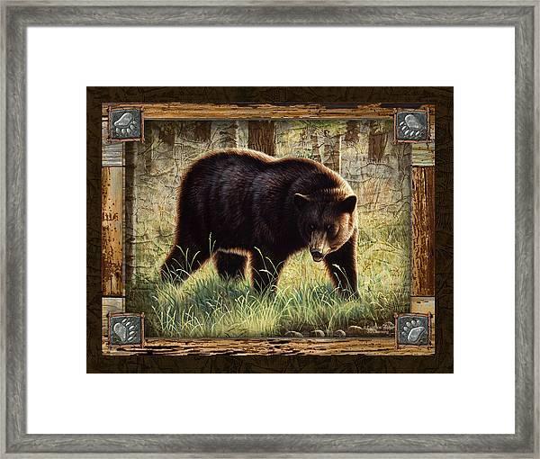 Deco Black Bear Framed Print