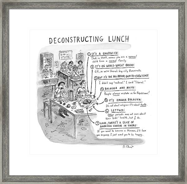Deconstructing Lunch Framed Print