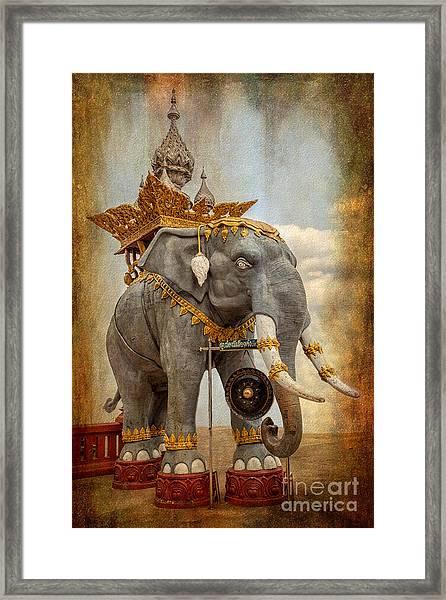 Decorative Elephant Framed Print