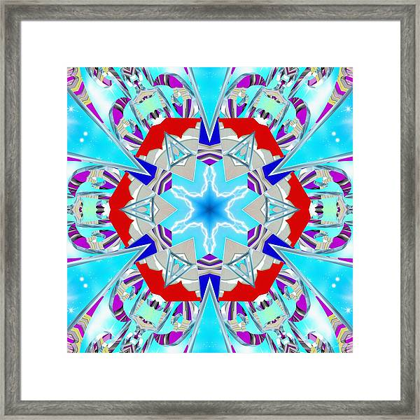 Deep Blue Geometry Framed Print
