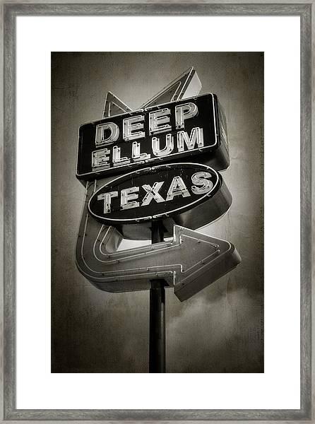 Deep Ellum Framed Print