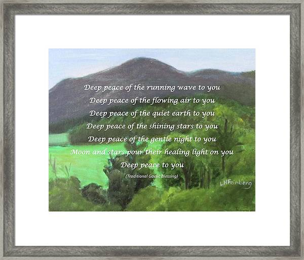 Deep Peace With Ct River Valley Framed Print