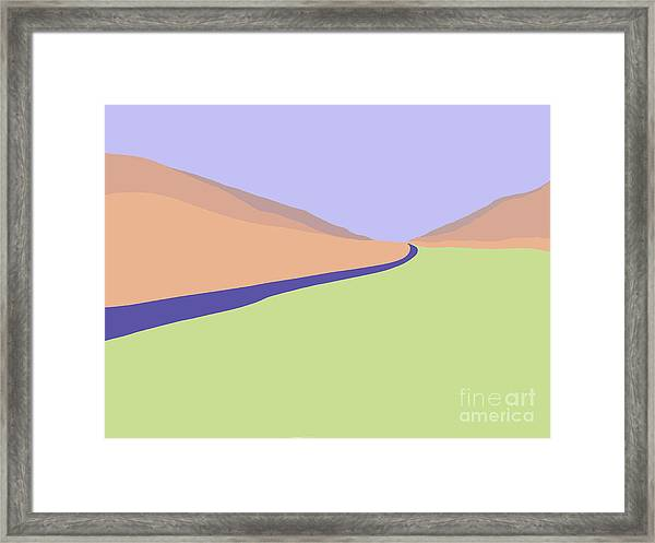 Deep River Blues Framed Print