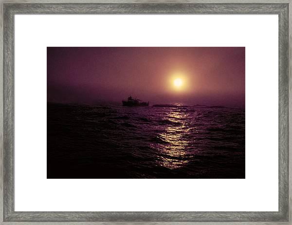 Deep Sea Fishing Off West Port Wa II Framed Print