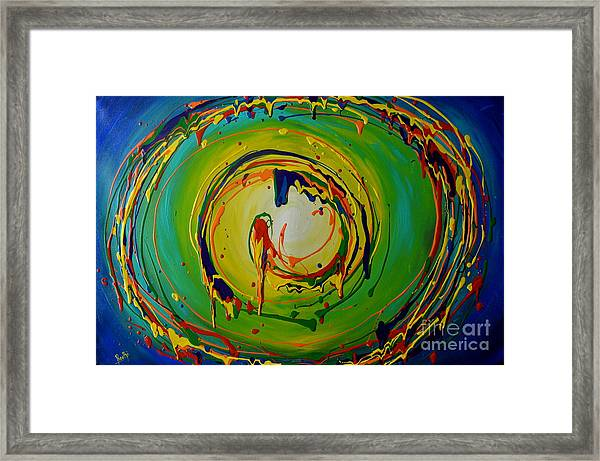 Deep Sea Swirls Framed Print
