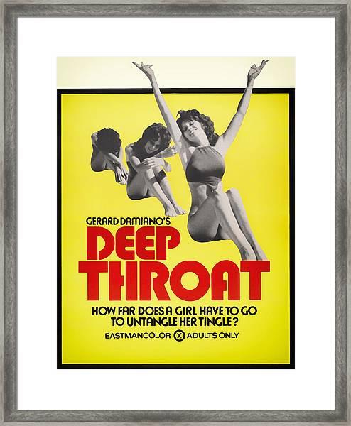 Deep Throat Movie Poster 1972 Framed Print