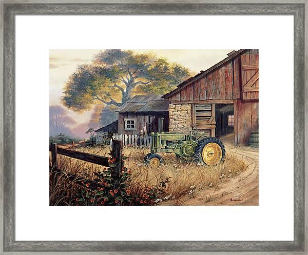 Deere Country Framed Print