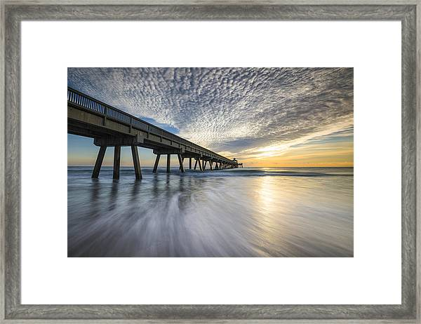 Deerfield Beach Pier Sunrise - Boca Raton Florida Framed Print