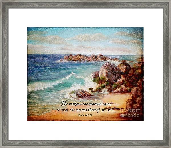 Deerfield Wave Psalm 107 Framed Print