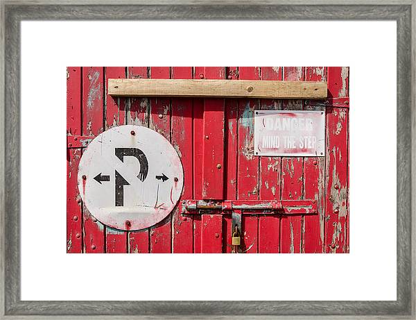 Definitely Closed Framed Print