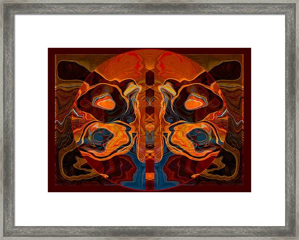 Deities Abstract Digital Artwork Framed Print