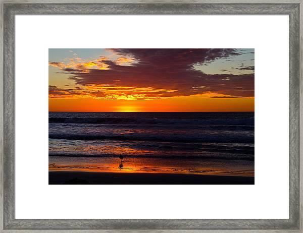 Del Mar Sunset Framed Print