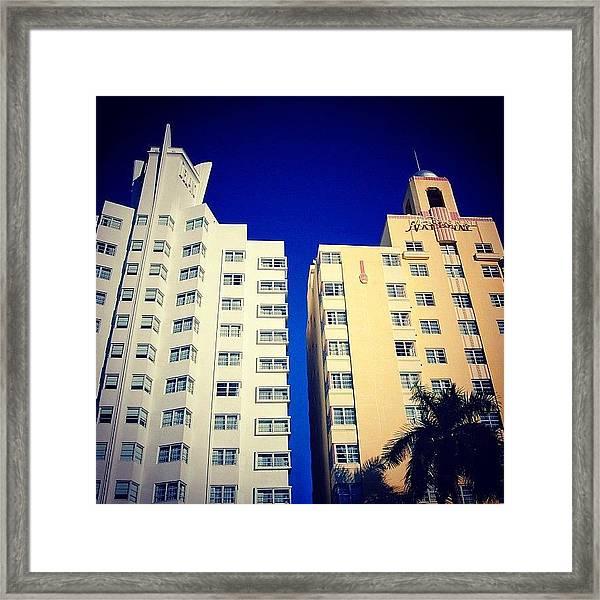 Delano And National Hotel's - Miami ( Framed Print