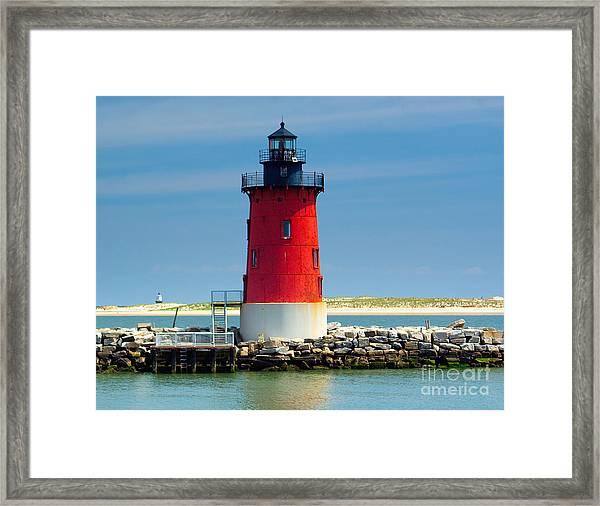 Delaware Breakwater Lighthouse Framed Print