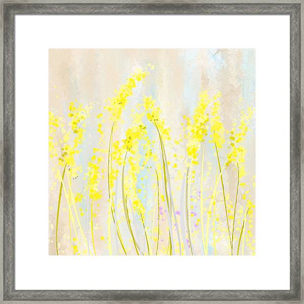 Delicately Soft- Yellow And Cream Art Framed Print