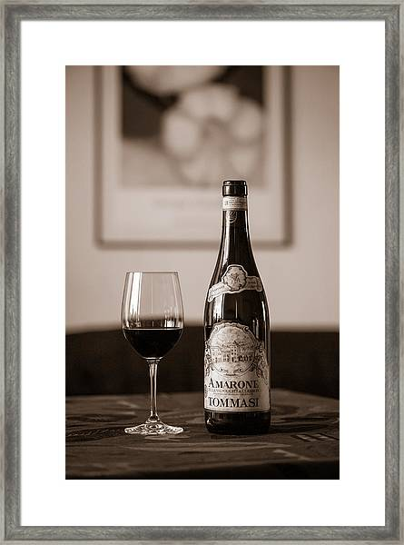 Delicious Amarone Framed Print