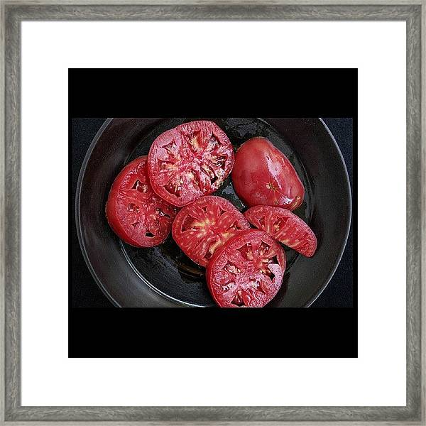Delicious Village Tomatoes Crete Greece Framed Print