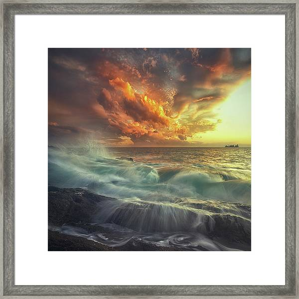 Delirium With Colors Framed Print by Paolo Lazzarotti