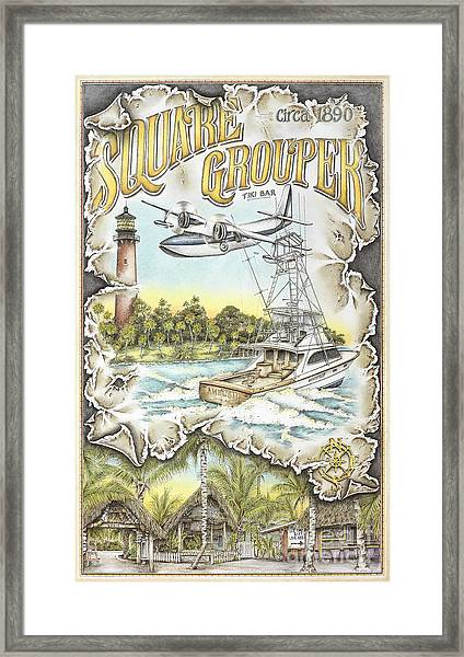 Delivering The Grouper Framed Print by Mike Williams