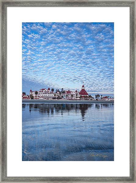 Buttermilk Sky Framed Print
