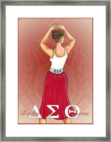 Delta Sigma Theta Framed Print