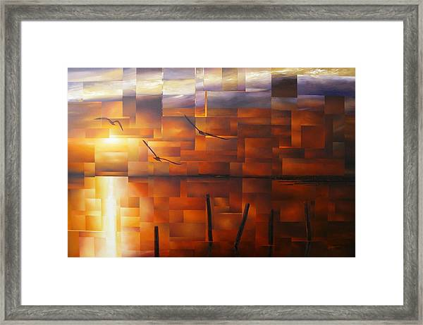Delta Sunset Framed Print by Laurend Doumba