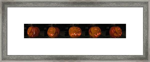Demented Mister Ullman Pumpkin 2 Framed Print