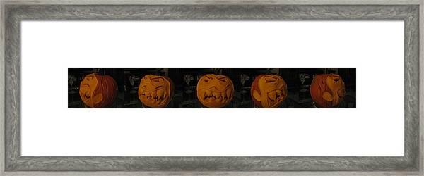 Demented Mister Ullman Pumpkin 3 Framed Print