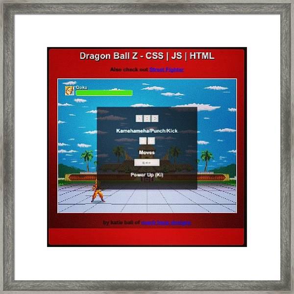 #demo At  #http://bit.ly/dbz-css  #dbz Framed Print