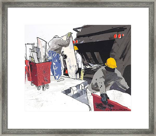 Demolition Crew Framed Print