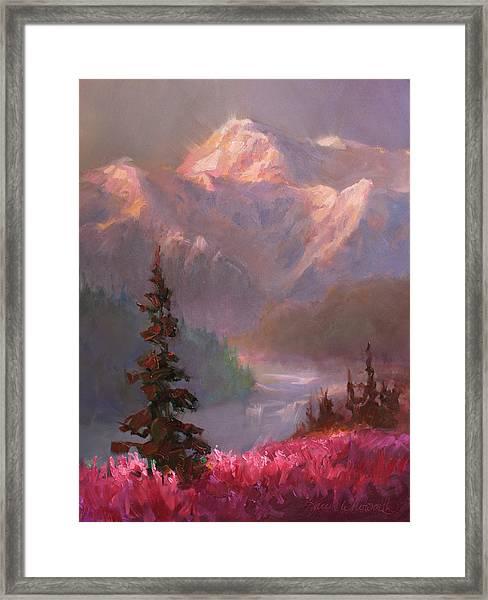 Denali Summer - Alaskan Mountains In Summer Framed Print