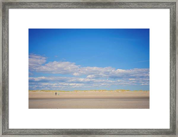 Denmark, Romo, Mature Woman With Boy Framed Print by Westend61