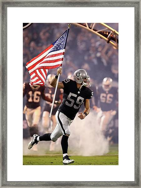Denver Broncos V Oakland Raiders Framed Print by Ezra Shaw