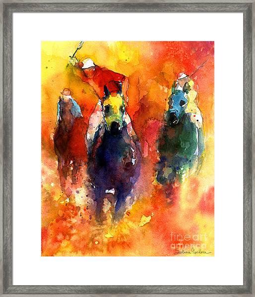 Derby Horse Race Racing Framed Print