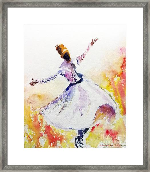 Whirling Sufi Dervish Framed Print
