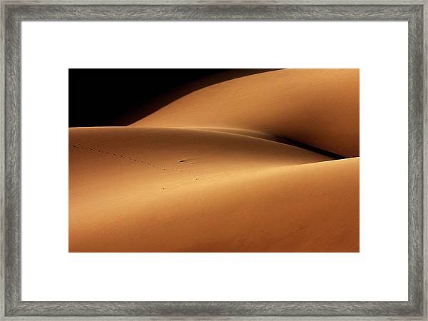 Desert And The Human Torso Framed Print by Ebrahim Bakhtari Bonab