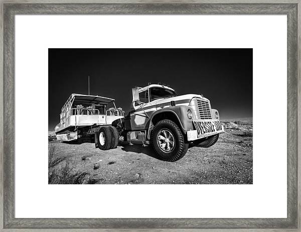 Desert Houseboat Framed Print