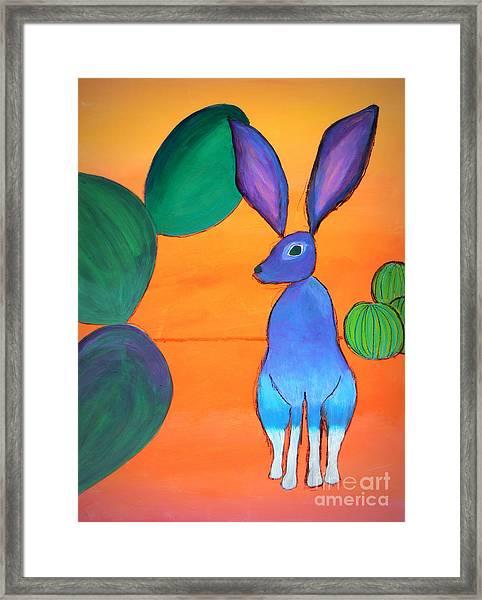 Desert Jackrabbit Framed Print