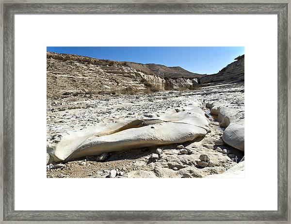 Desert Landscape 02 Framed Print by Arik Baltinester